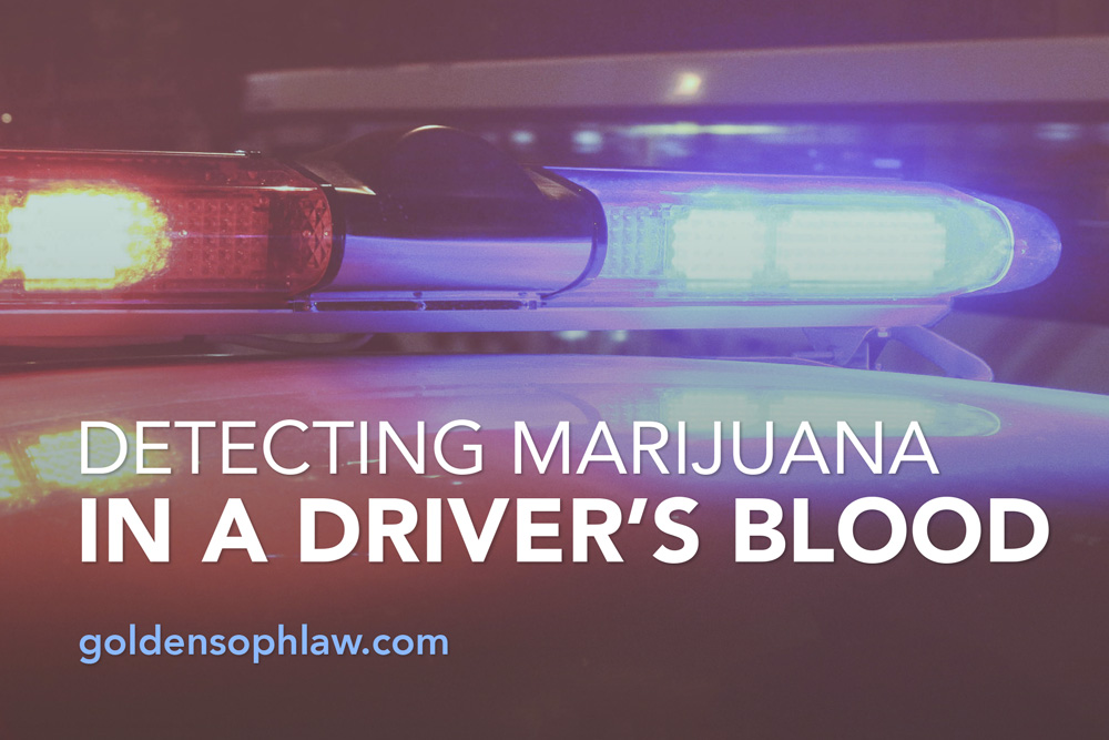 Detecting Marijuana in a Driver's Blood
