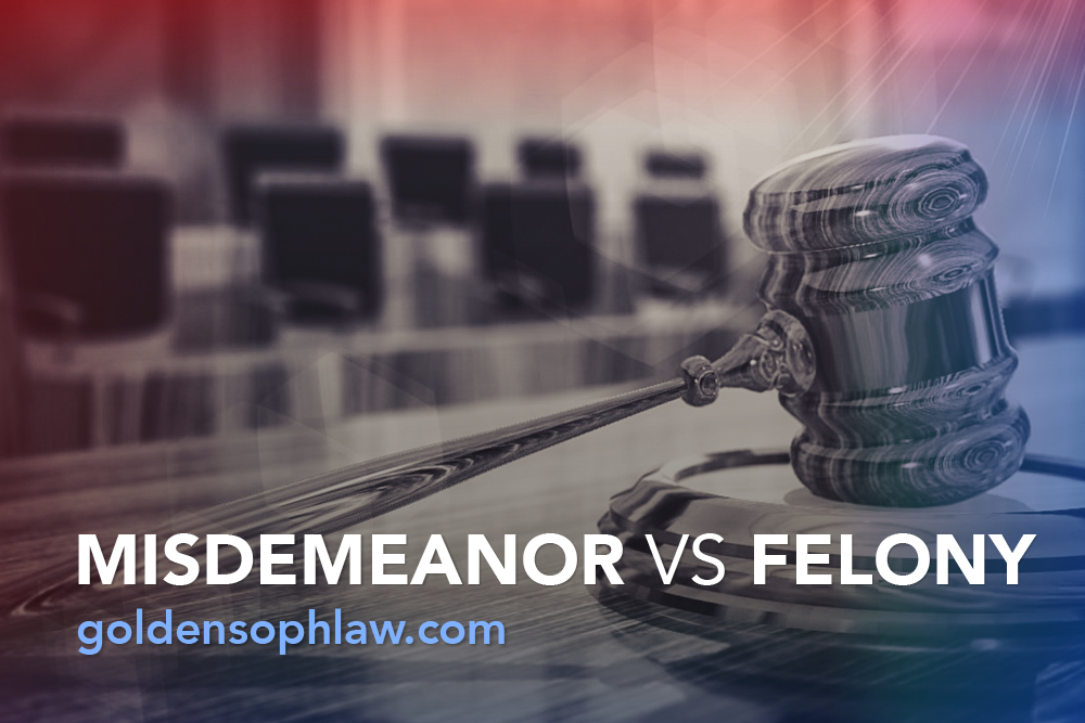 Misdemeanor vs felony